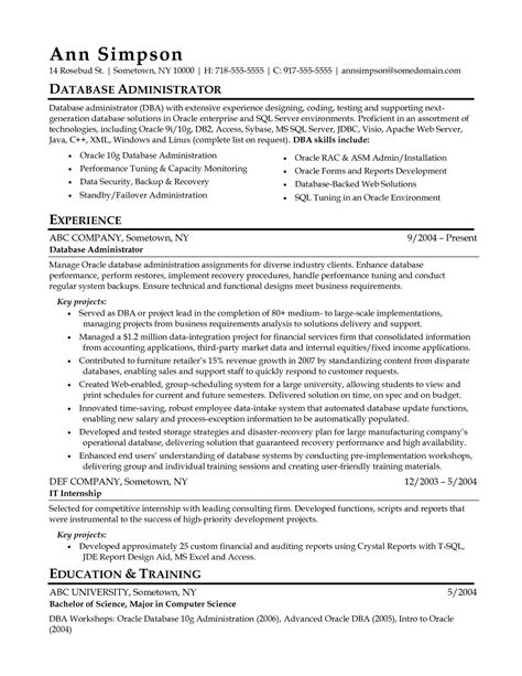 dba resume resume samples for sql server. Resume Example. Resume CV Cover Letter