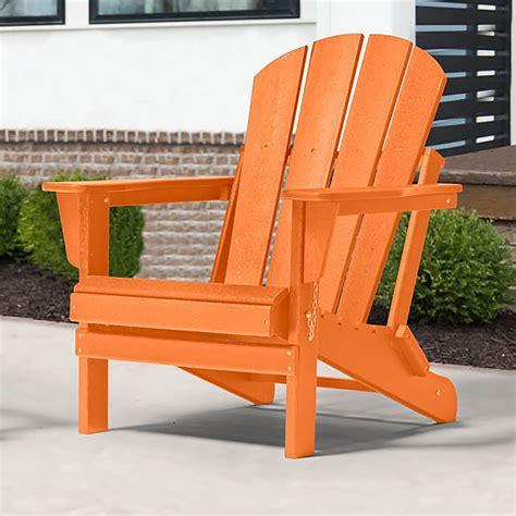 Orange Plastic Adirondack Chairs
