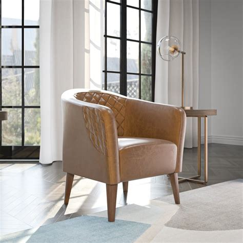 Orbison Diamond Genuine Leather Upholstered Dining Chair