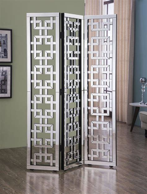 Orpha 73.5 x 48 Contemporary 3 Panel Room Divider