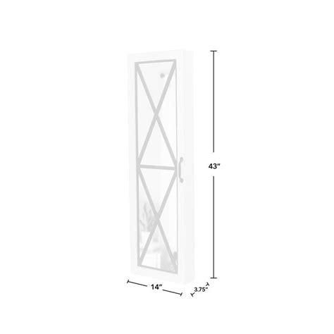 Otelia Over The Door Jewelry Armoire with Mirror
