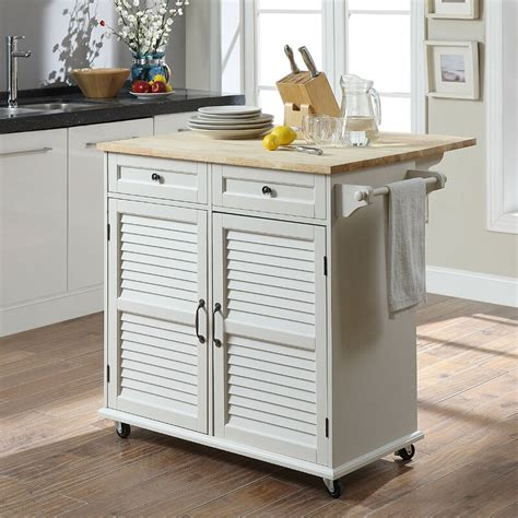 Ottery Kitchen Cart with Solid Woo by