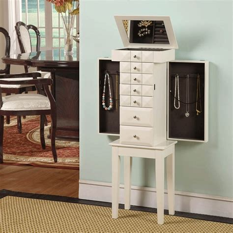 Ottilie Free Standing Jewelry Armoire with Mirror