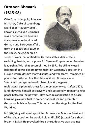 lebenslauf otto von bismarck otto von bismarck referat schulzeuxde - Otto Von Bismarck Lebenslauf