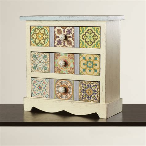 Oua-Oue 3 Drawer Table Chest