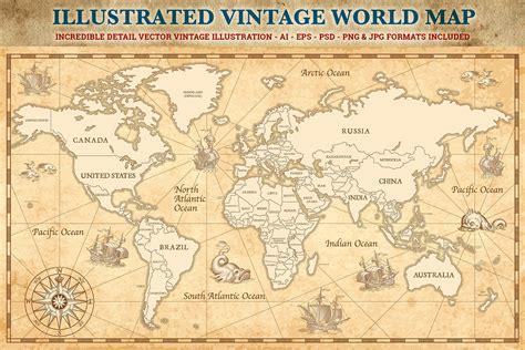 Ouderwetse Wereldkaart
