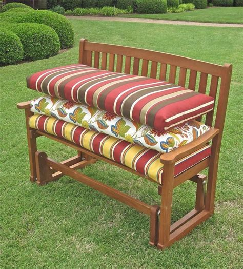 outdoor swing bench cushions