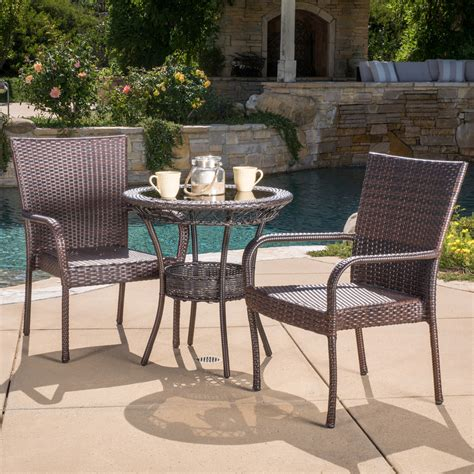 Outdoor 3 Piece Bistro Set