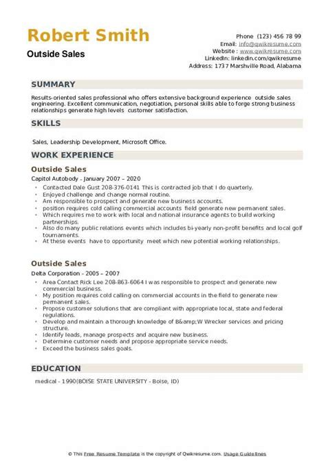 outdoor sales executive resume sample   cover letter samples ... - Outside Sales Resume Examples