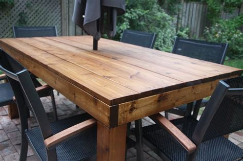 Outdoor Harvest Table And Benches Plan