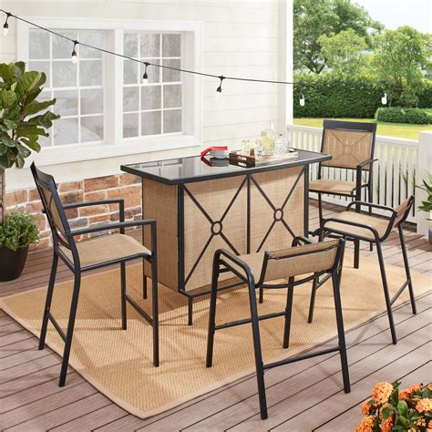 Outdoor Patio Bar Set