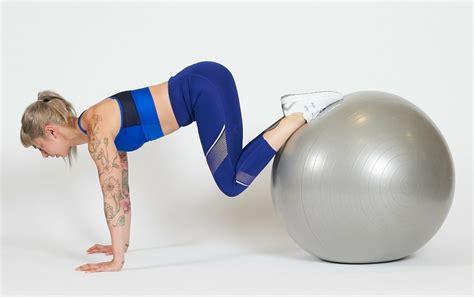 outer hip stretches exercise yoga ball