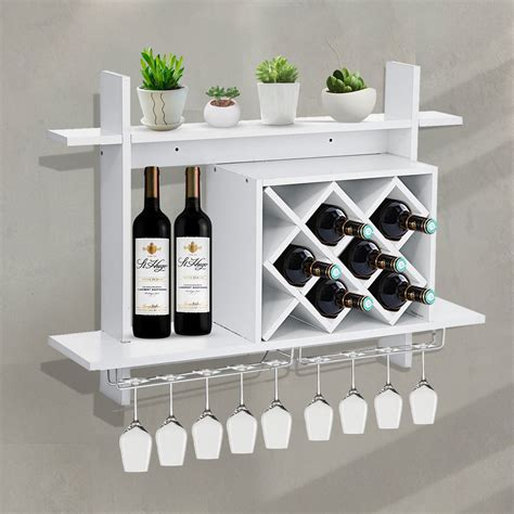 Outland 8 Bottle Wall Mounted Wine Glass Rac by