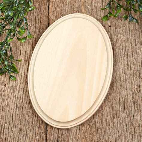Oval Wood Plaque