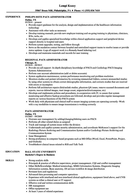 pacs administrator resume pacs administrator resume any where jobvertise - Pacs Administration Sample Resume