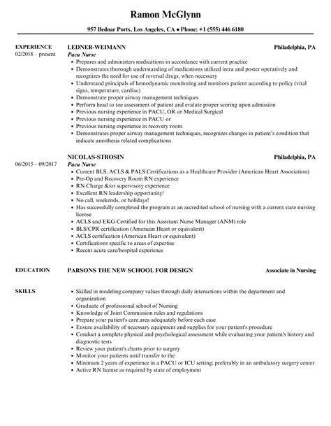 orthopedic nurse resumes