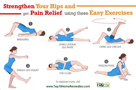 pain in hip flexor and glutes and hamstrings exercises at home