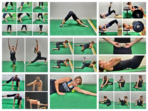 pain in hip flexor and glutes kick backs exercise with weights