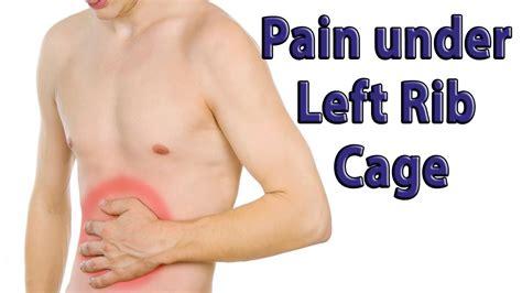 pain in left side below ribs when breathing