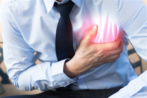 pain in left side of chest when breathing in