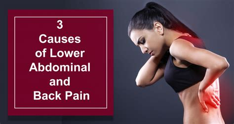 pain in lower left abdomen and back female