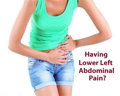 pain in lower left abdomen moving to back