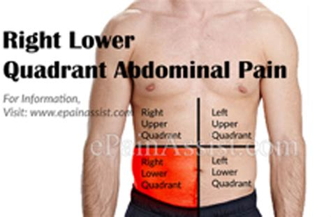 pain in lower right abdomen when moving bowels