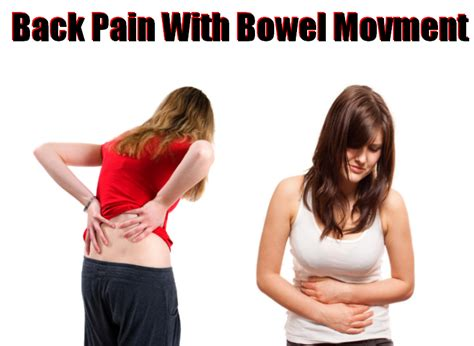 pain in right side and back after bowel movement