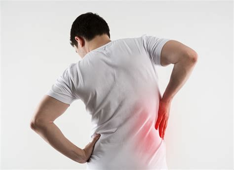 pain in right side of body towards the back