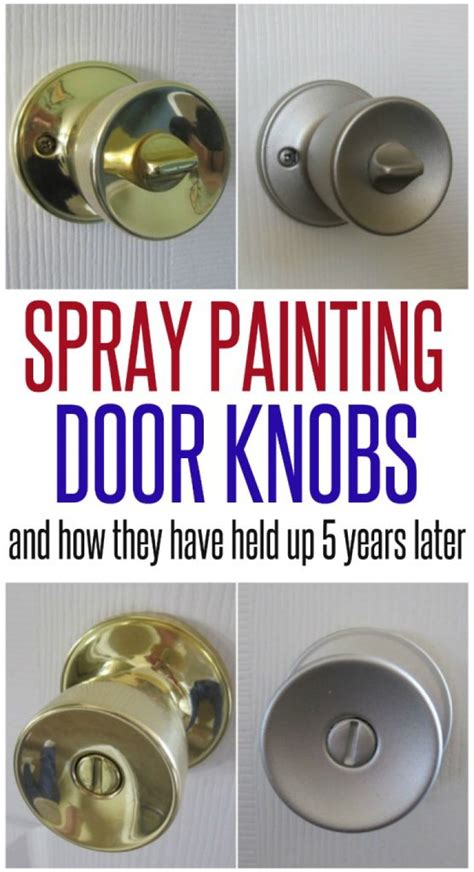 Brass Paint Brass Door Knobs.