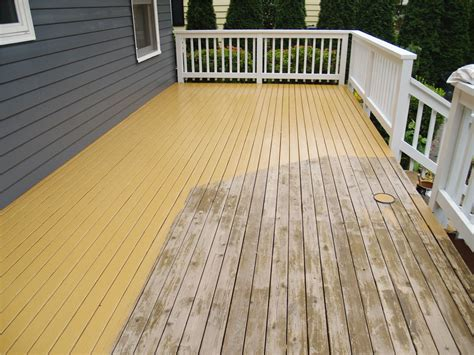 Paint Or Stain Wood Deck