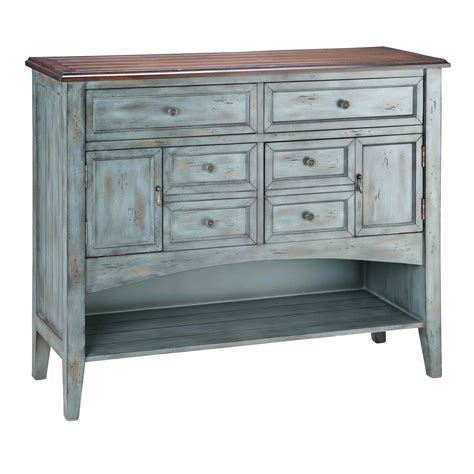Painted Treasures 4 Drawer Accent Moonstone Accent Chest