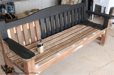 Painting Wooden Bench Outside