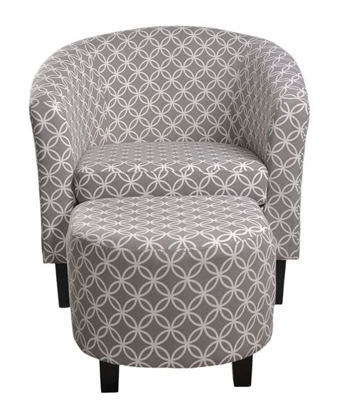 Paisley Barrel Chair and Ottoman