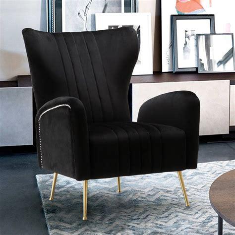 Pamila Velvet Wingback Chair