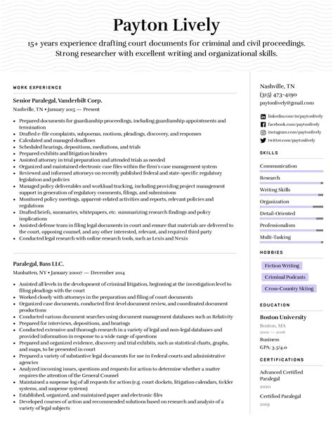 Paralegal Student Resume No Experience Writing Resumes For Experienced And New Paralegals