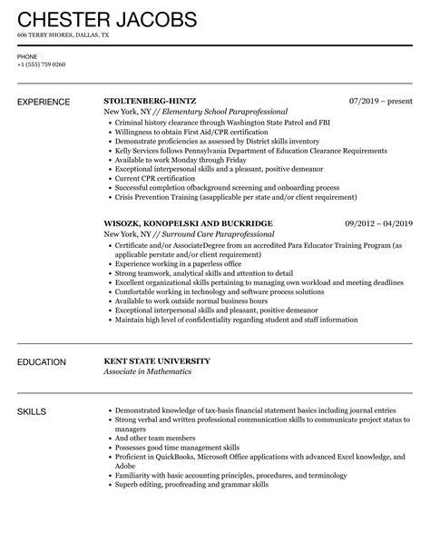 paraprofessional resume job description sample job description for paraprofessional resume