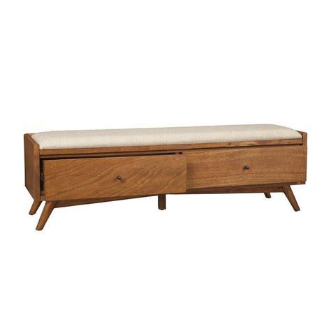 Parocela Wood Storage Bench