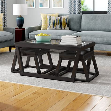 Parodi Coffee Table with 2 Nested Stool