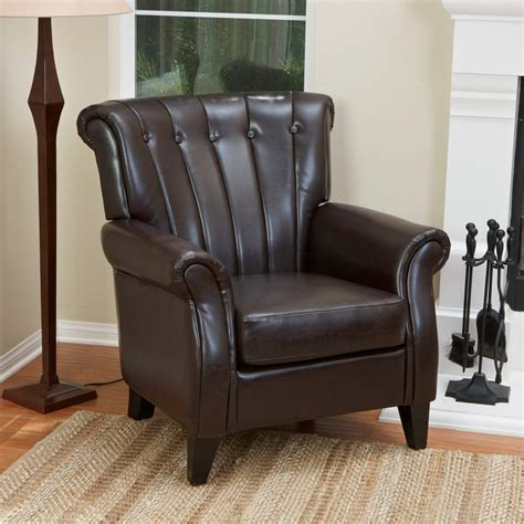 Parth Leather Club Chair