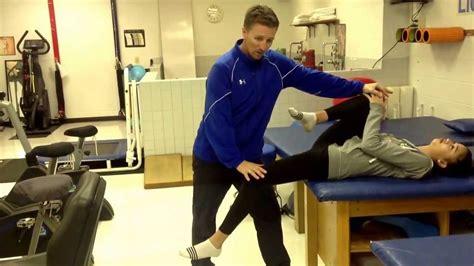 partner stretch prone hip flexor stretch testing instruments