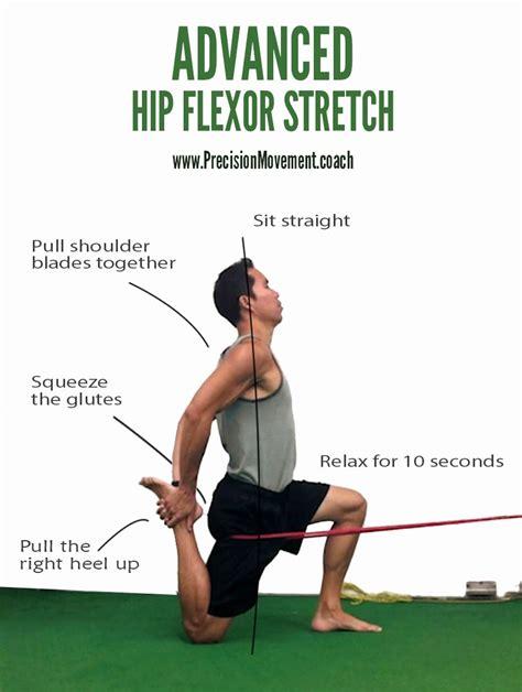passive hip flexor stretch instructions for form 8965