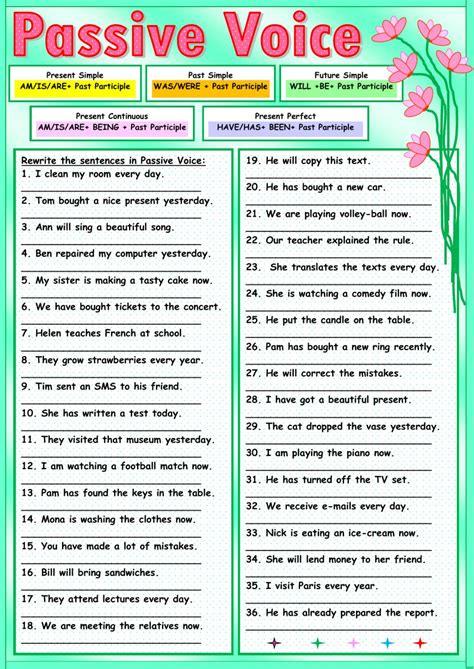 passive voice exerc�cios com gabarito pdf