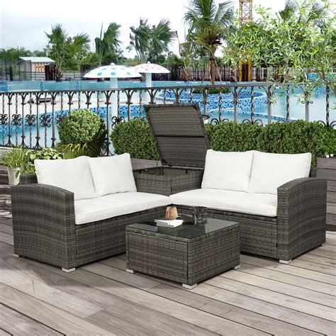 patio tables with storage