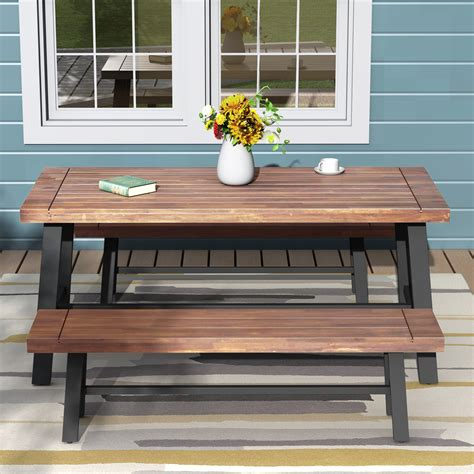 Patio Bench With Table