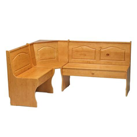 Patty Solid Wood Corner Corner Bench