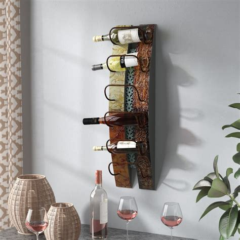 Pavadas 5 Bottle Wall Mounted Rac by