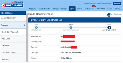 Pay Credit Card Via Atm Hdfc Bank Pay Credit Card Bills Hdfc Bank Account