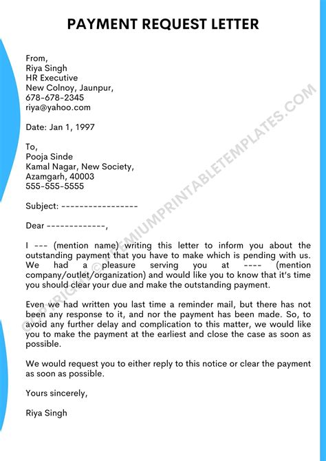 payment requesting letter request payment plan letter for a supplier free sample