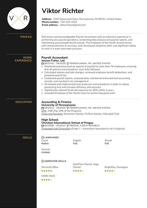 accounting jobs resumes